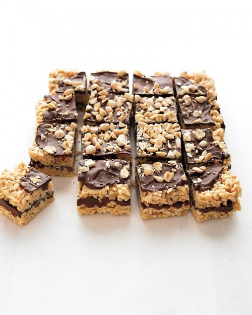 Rice Krispy Treats with Peanut Butter and Chocolate