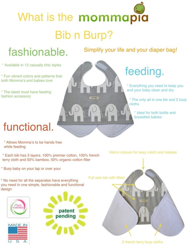 Click here to read all about the Bib n Burp.