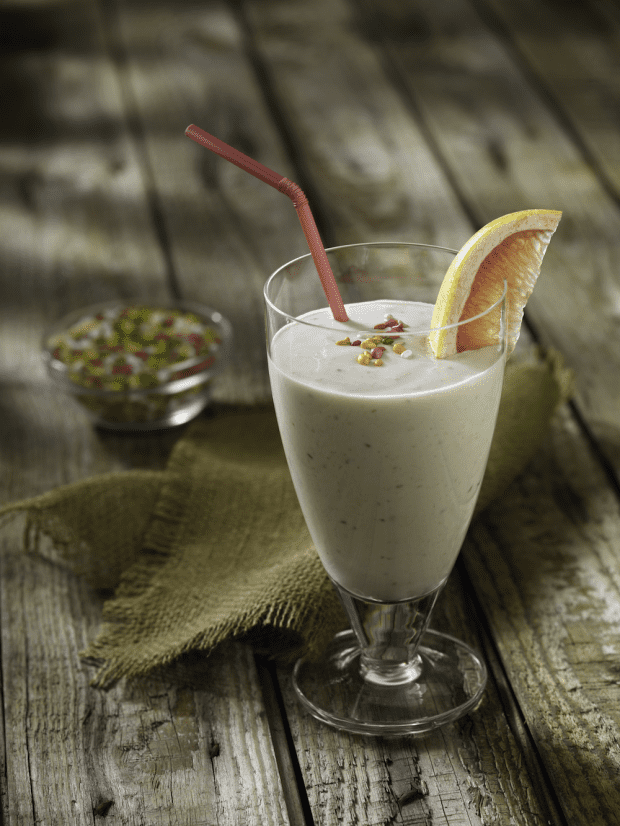 Grapefruit Yogurt Smoothie with Fennel Seed